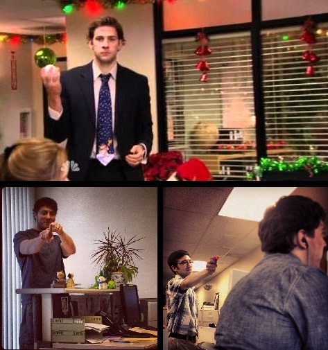 episode 711712 classy christmas dwight and jim engage in an all out snowball war utilizing elaborate planning strategy and the most powerful weapon - The Office Classy Christmas