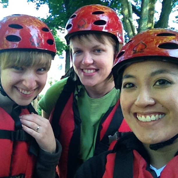 Safety first - ready to hit the rapids!