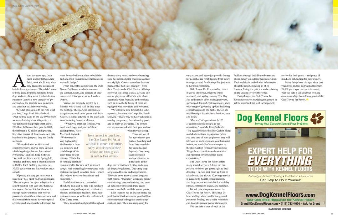 Pet Boarding & Daycare, 2012