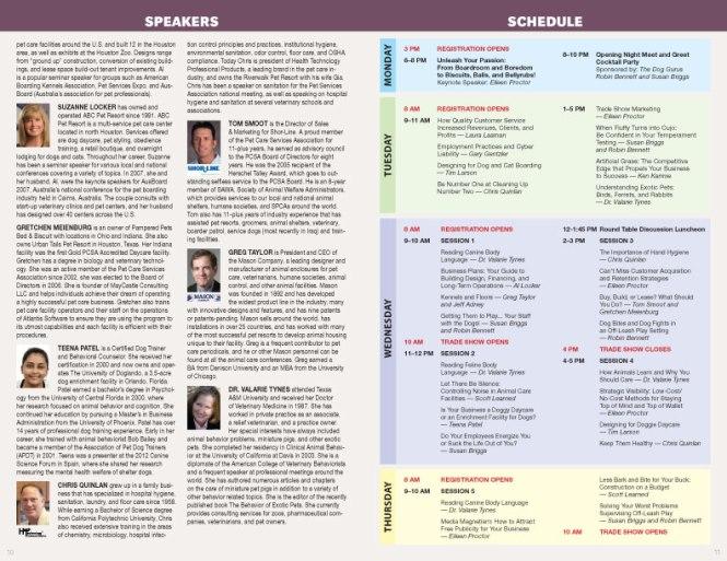 Pet Boarding & Daycare Expo Program Guide, 2013